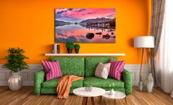Pink Skies Derwent Water - Canvas Print on Wall