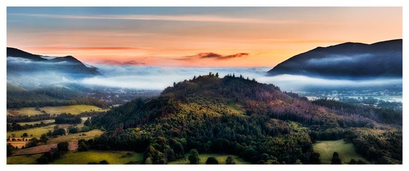 Dawn Mists Over Bassenthwaite Lake - Lake District Print