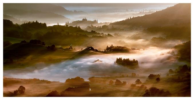 Morning Mists Over Little Langdale - Lake District Print