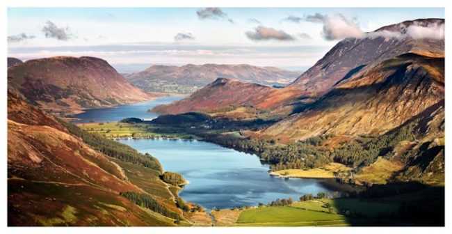 Buttermere and Crummock Water - Lake District Print