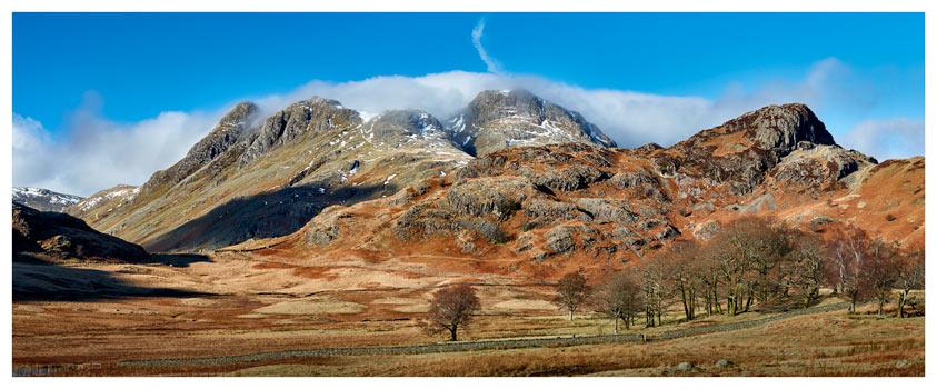 Last Snow On Langdales- Lake District Print