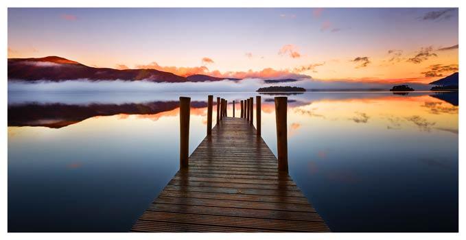 Ashness Jetty Dawn Mists - Lake District Print