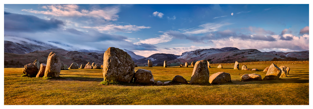 Morning Sunshine on Castlerigg - Lake District Print