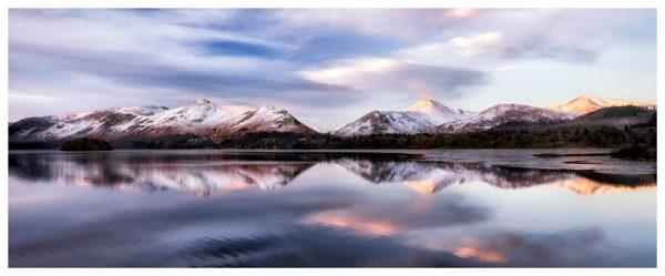 Colours of Dawn at Derwent Water - Lake District Print