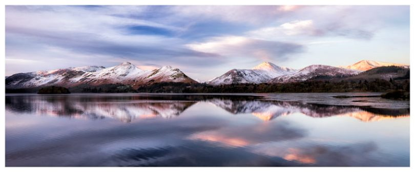 Colours of Dawn at Derwent Water - Lake District Print