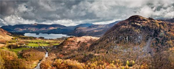 Kings How and Derwent Water - Canvas Print