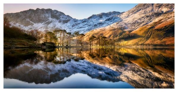 Winter Reflections Buttermere - Lake District Print