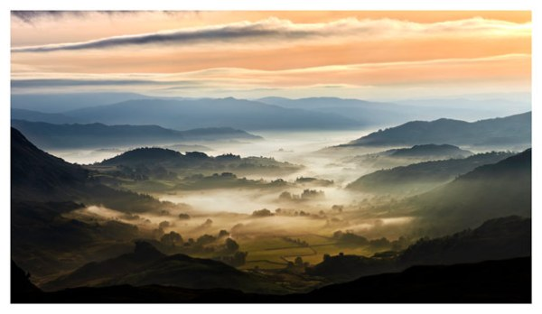Little Langdale in the Mist - Lake District Print
