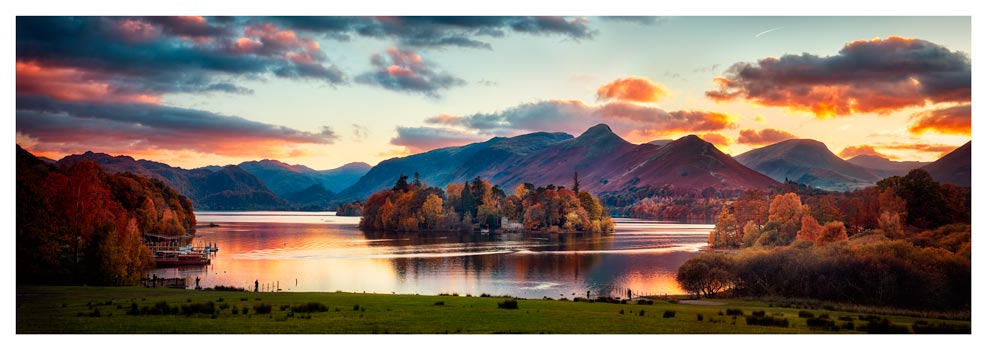 Derwent Water at Dusk - Lake District Print