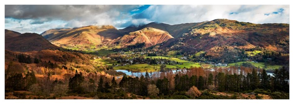 Grasmere Village Panorama - Lake District Print