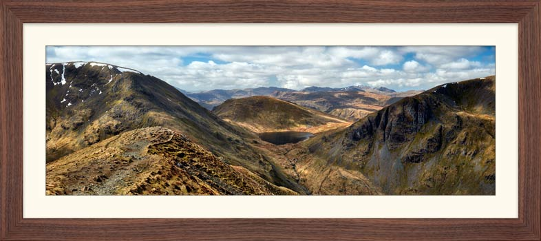 Grisedale Tarn From Deepdale Hause - Framed Print