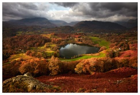Loughrigg Tarn in Autumn - Lake District Print