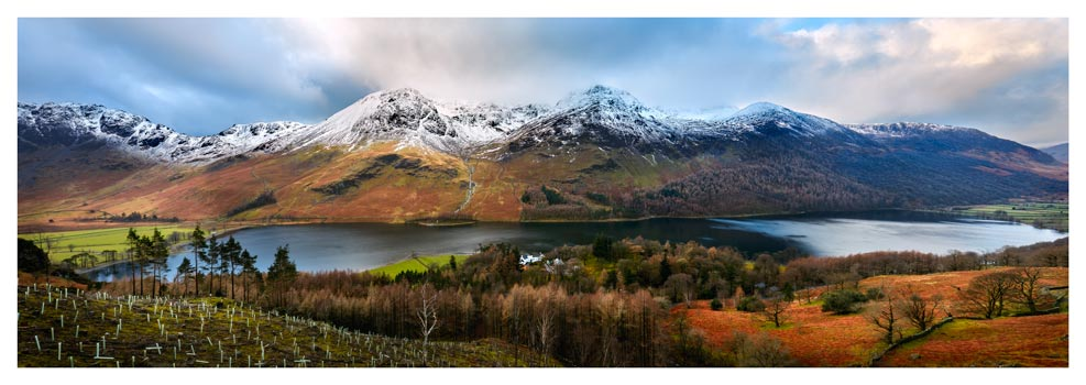 Buttermere Winter Panorama - Lake District Print