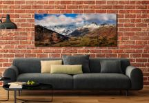 Langdale Valley Winter Panorama - Canvas Print on Wall