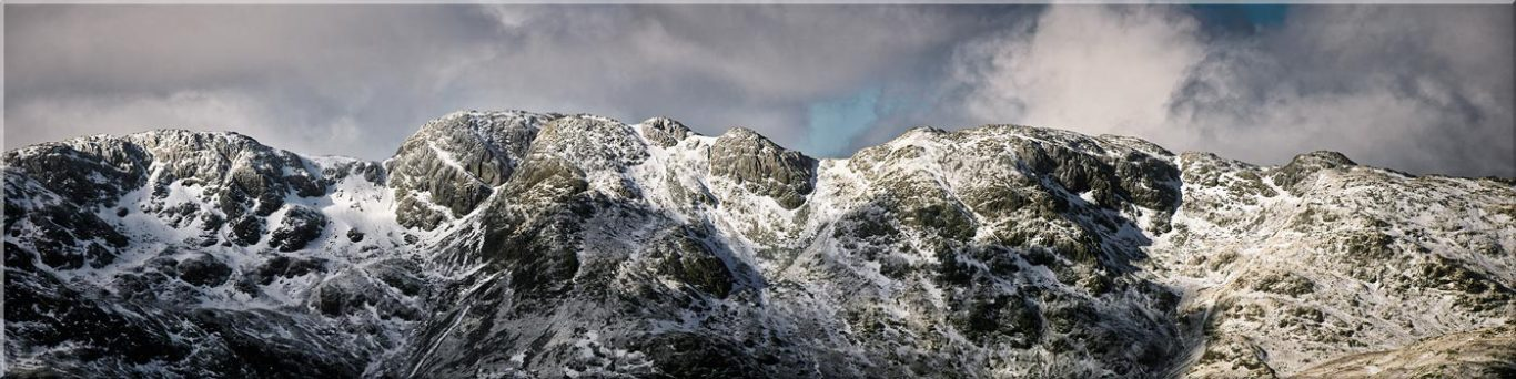 Crinkle Crags Winter Panorama - Canvas Prints