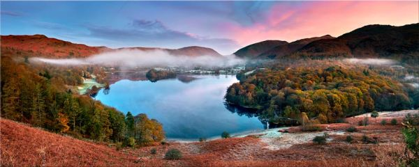 Dawn Colours of Grasmere - Canvas Print
