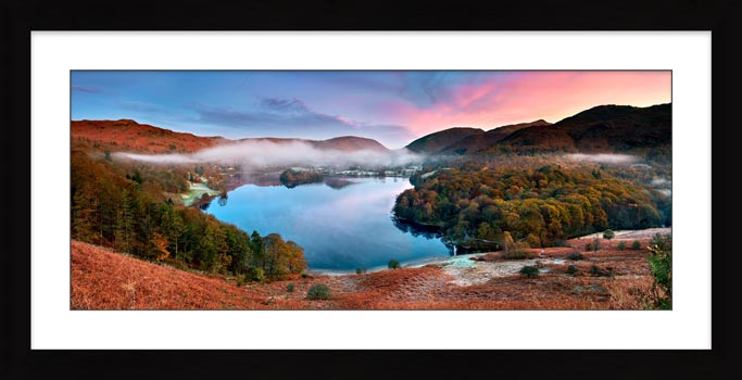 Dawn Colours of Grasmere - Framed Print