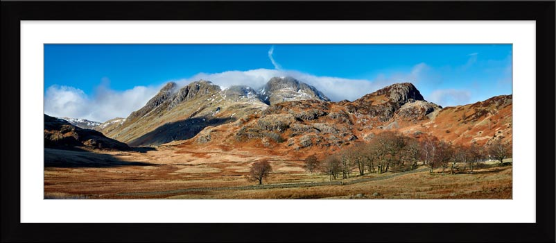 Last Snow On Langdales - Framed Print