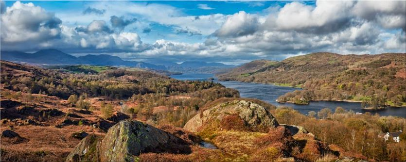 Coniston Water Panorama - Canvas Prints