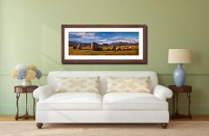 Morning Sunshine on Castlerigg - Framed Print with Mount on Wall