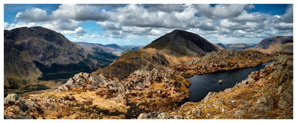 Pillar and High Crag from Haystacks - Lake District Print