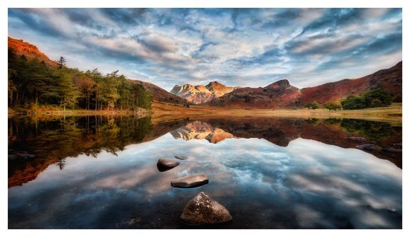 Light on the Langdales - Lake District Print
