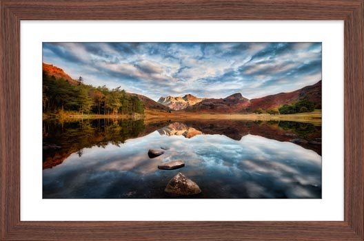 Light on the Langdales - Framed Print