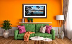 Roots and Mountains Derwent Water - Framed Print with Mount on Wall