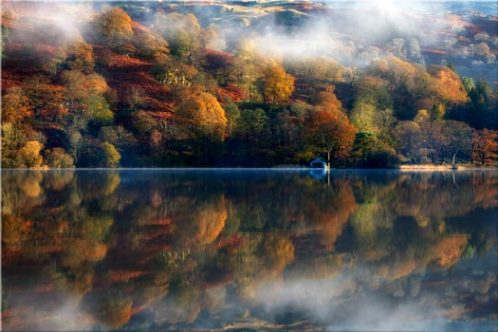 Rydal Water Autumn - Canvas Print