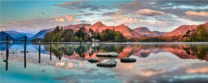 Derwent Isle Calm Dawn - Canvas Prints