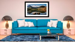 Beautiful Buttermere - Framed Print with Mount on Wall