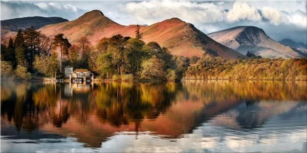 Derwent Boathouse and Cat Bells - Canvas Print