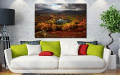 Loughrigg Tarn in Autumn - Canvas Print on Wall