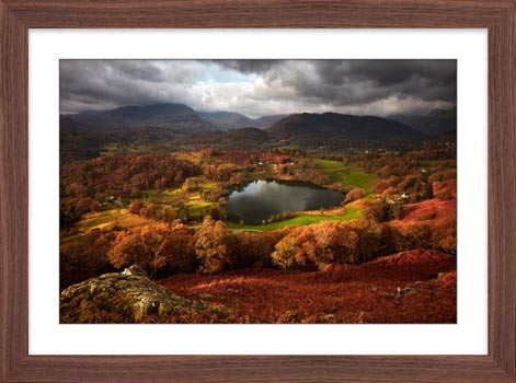 Loughrigg Tarn in Autumn - Framed Print with Mount