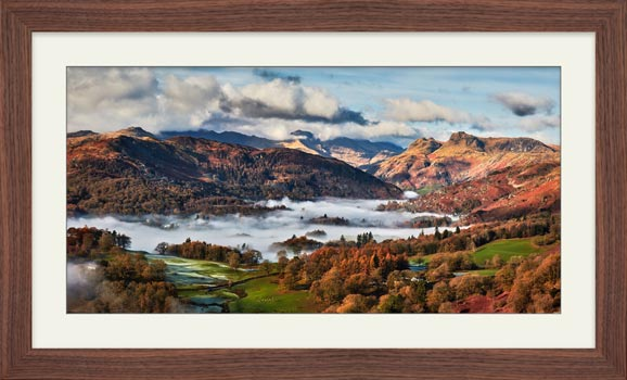 Autumn Morning in Langdale - Framed Print