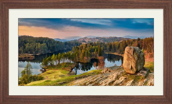 Dusk at Tarn Hows - Framed Print