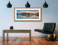 Derwent Isle Calm Dawn - Framed Print with Mount on Wall
