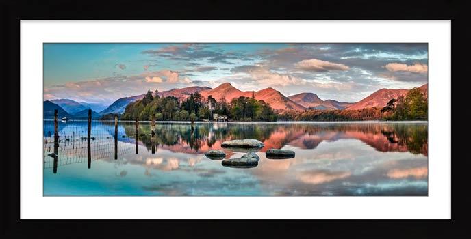 Derwent Isle Calm Dawn - Framed print