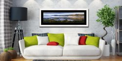 Bowness On Windermere Morning Mists - Framed Print with Mount on Wall