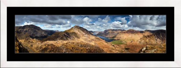 High Crag and Buttermere Panorama - Framed Print with Mount