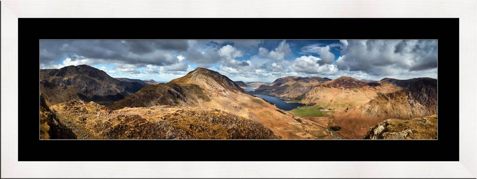High Crag and Buttermere Panorama - Framed Print