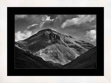 Great Gable Black and White - Framed Print