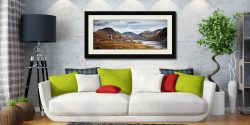 Three Sheep at Wast Water - Framed Print with Mount