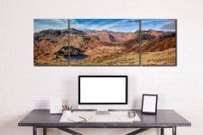 Lingmoor Fell Panorama - 3 Panel Wide Mid Canvas on Wall