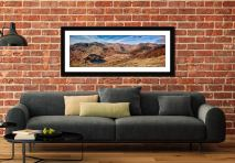 Lingmoor Fell Panorama - Framed Print with Mount on Wall