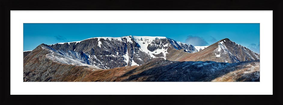 Helvellyn Snow Capped - Framed Print with Mount