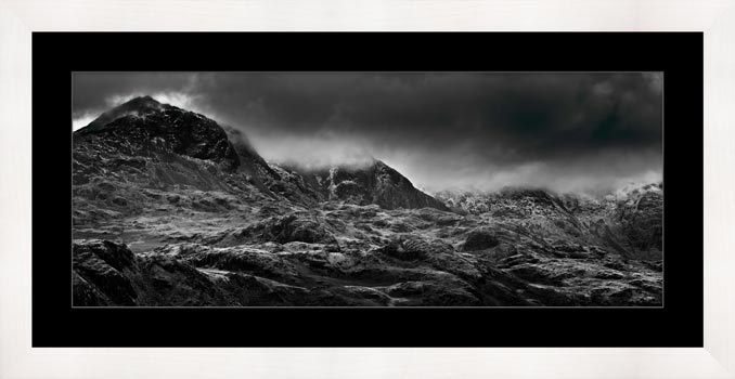 Scafell Mountains in Winter - Framed Print