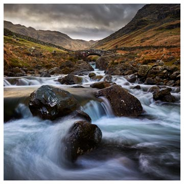 Stockley Bridge Grains Gill - Lake District Print