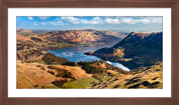 Ullswater From Harrison Crag - Framed Print