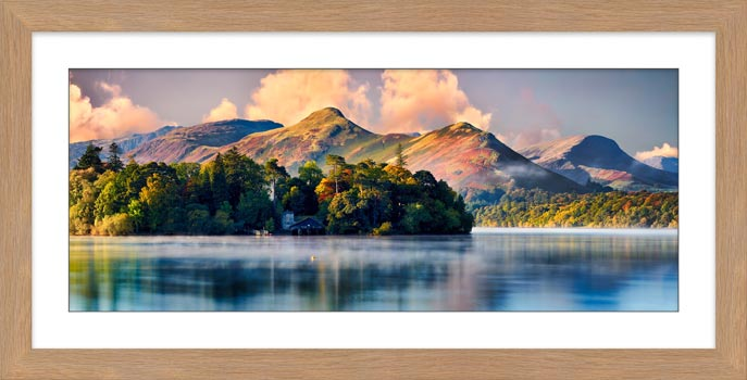 Morning Mists Around Derwent Isle - Framed Print with Mount